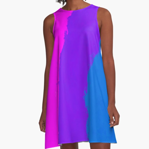 Painted Bisexual Flag A-Line Dress