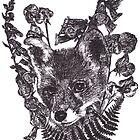 Fox Among Wild Flowers by Lorna Boyer