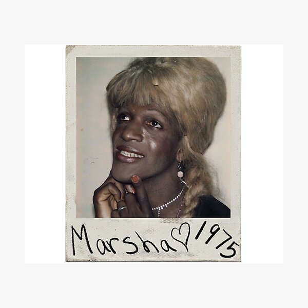Marsha P Johnson Polaroid - Pride  Photographic Print