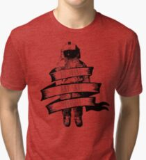 ribbon wrapped astronaut quote Tri-blend T-Shirt