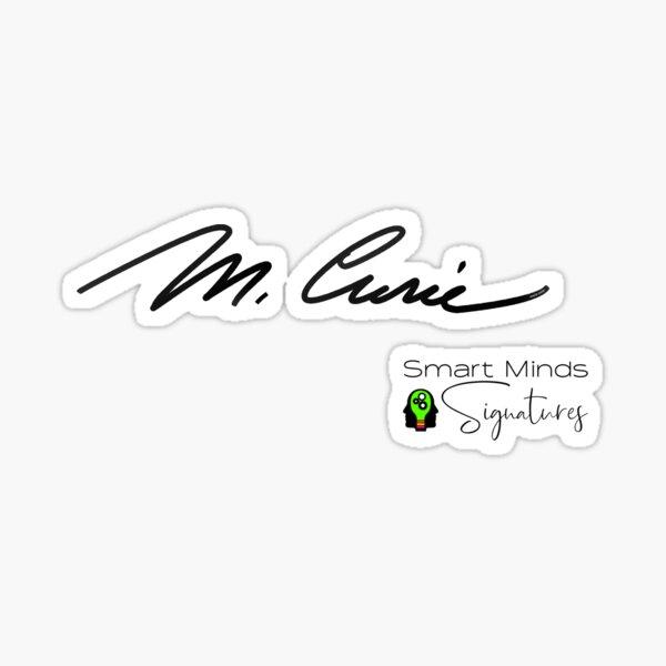 Signatures Series Marie Curie Sticker