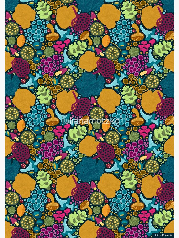 Colorful Fungi Pattern by julianamotzko