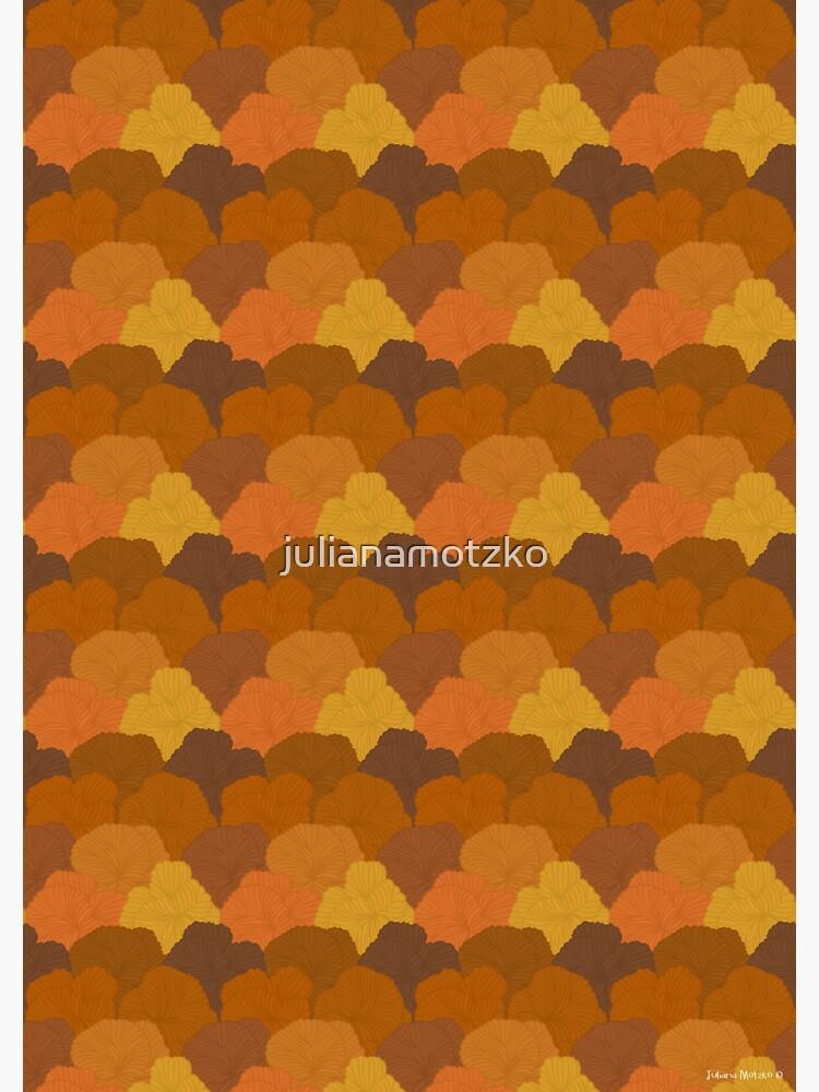 Autumn Colors Fungi Pattern by julianamotzko