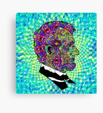 Psychedelic LSD Trip Abraham Lincoln Canvas Print