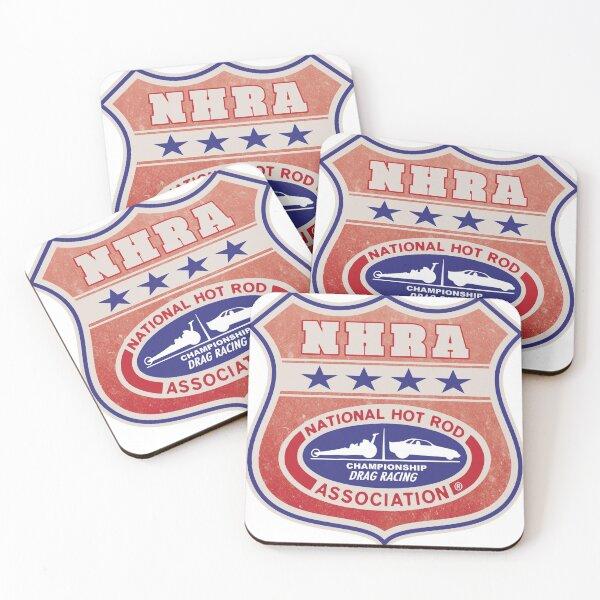 Vintage, distressed NHRA logo Coasters (Set of 4)