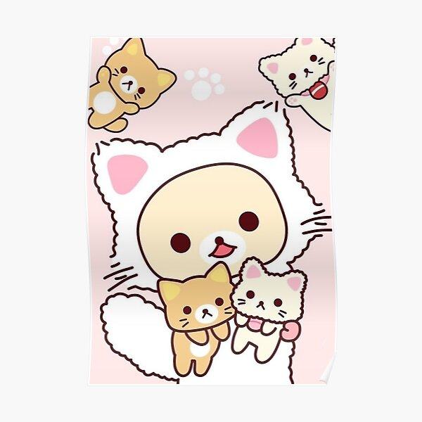 Cute rilakkuma cat Poster