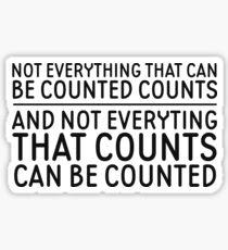 Albert Einstein Cool Life Quote Inspirational Sticker