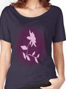 Flower silhouette in pink Women's Relaxed Fit T-Shirt