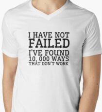 Thomas Edison Cool Quote Inspirational Motivation Men's V-Neck T-Shirt