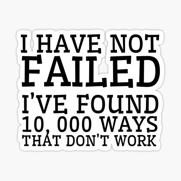 Thomas Edison Cool Quote Inspirational Motivation Sticker