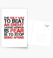 Political Freedom Terrorism Quote Fear Postcards