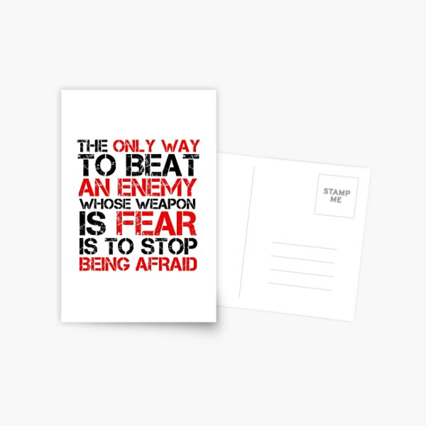 Political Freedom Terrorism Quote Fear Postcard