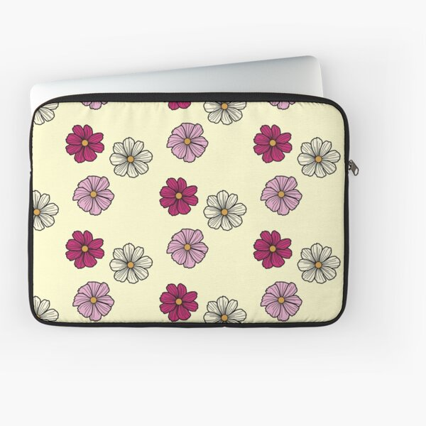 Pink and white cosmos Laptop Sleeve