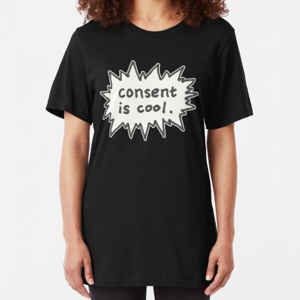 Consent is Cool Comic Flash Slim Fit T-Shirt