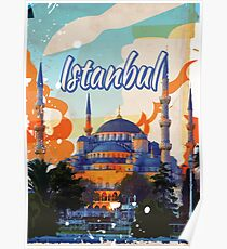Istanbul Vintage Travel poster Poster