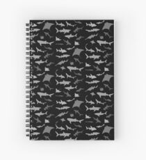 Sharks and Rays: Dark version! Spiral Notebook