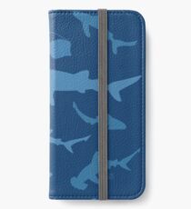 Sharks and Rays - Blue version! iPhone Wallet/Case/Skin