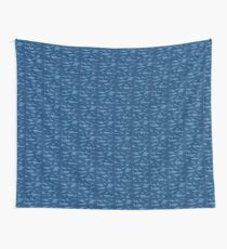 Sharks and Rays - Blue version! Wall Tapestry
