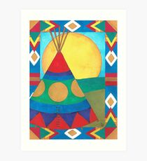 Teepee - Not My Home Art Print