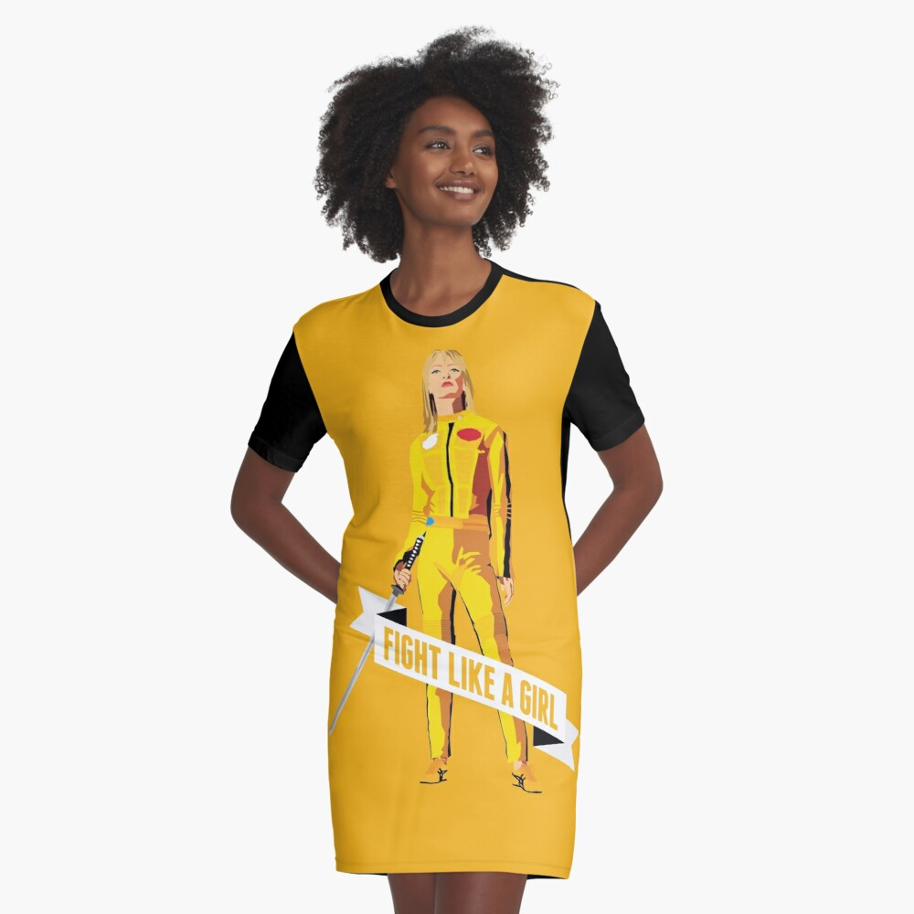 Kämpfe wie ein Mädchen: Beatrix Kiddo T-Shirt Kleid