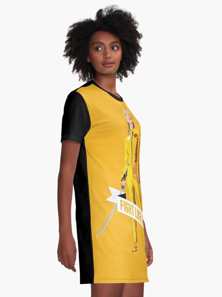 Alternative Ansicht von Kämpfe wie ein Mädchen: Beatrix Kiddo T-Shirt Kleid