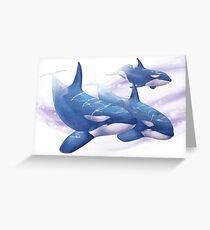 Orca pod Greeting Card