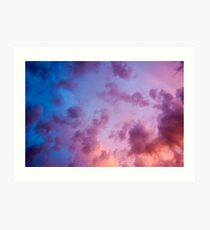 colorful clouds during  sunset over Holland Art Print