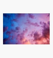 colorful clouds during  sunset over Holland Photographic Print