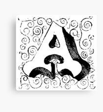 Block Alphabet Letter A Canvas Print