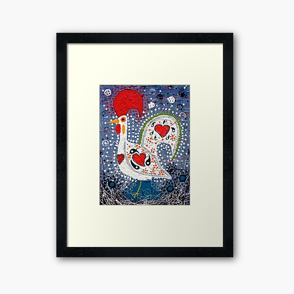 Portuguese Rooster 4 Framed Art Print
