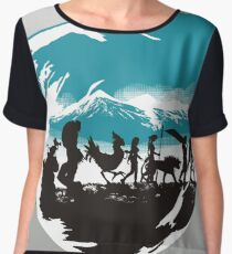 FELLOWSHIP OF THE FANTASY Women's Chiffon Top