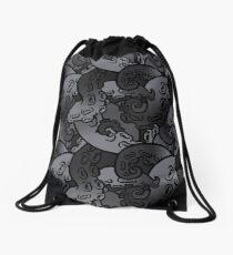 tentacle pattern 3 Drawstring Bag