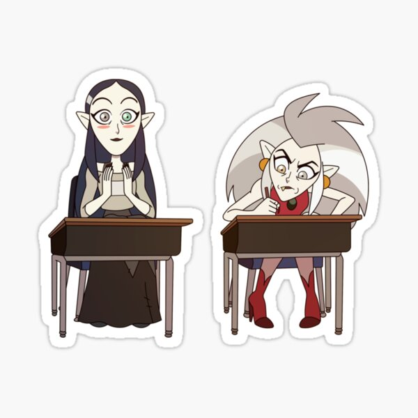 Eda and Lilith Clawthorne   The Owl Hous  Perfect Gift Sticker