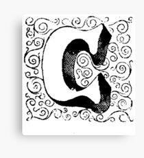 Block Alphabet Letter C Canvas Print