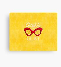 Geeks are Sexy - Vintage Glasses Canvas Print