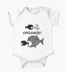 Organize! Citizens Unite! Activists Unite! Laborers Unite! .  One Piece - Short Sleeve