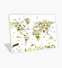 world map animals 2 Laptop Skin