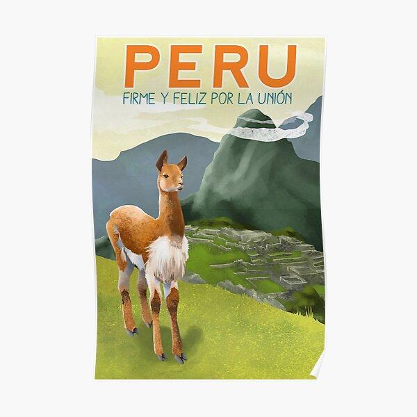 Cartel de viaje de Perú Póster