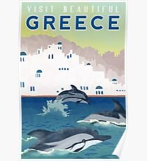 Greece Travel Poster Poster
