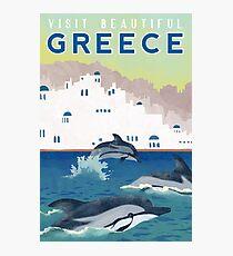 Greece Travel Poster Photographic Print