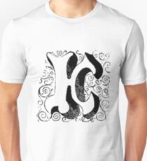 Block Alphabet Letter K Unisex T-Shirt