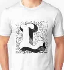 Block Alphabet Letter L Unisex T-Shirt