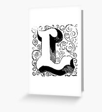 Block Alphabet Letter L Greeting Card