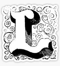 Block Alphabet Letter L Sticker
