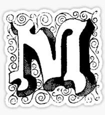 Block Alphabet Letter M Sticker