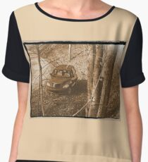 """""""Along Time Warp Road""""... prints and products Chiffon Top"""