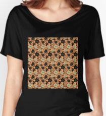 lilies flower seamless pattern pink salmon Women's Relaxed Fit T-Shirt