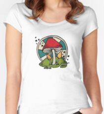 Mushroom Women's Fitted Scoop T-Shirt