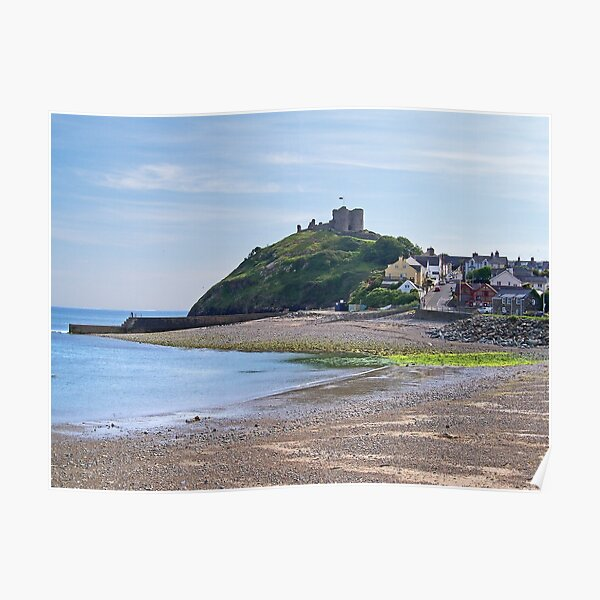 Criccieth Castle and Beach Poster