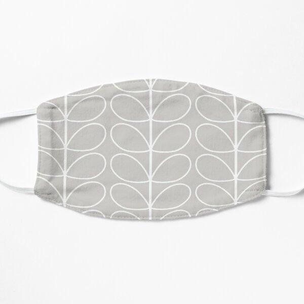 linear stem - orla kiely,silver, white  Flat Mask